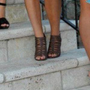 Fergalicious gladiator heels